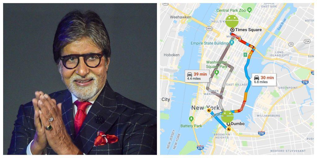 Google Maps पर सुनाई दे सकती है Amitabh Bachchan की आवाज
